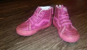 Used girls glitter/sparkle hightop vans